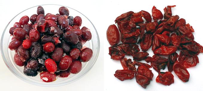 мороженые и сушеные плоды